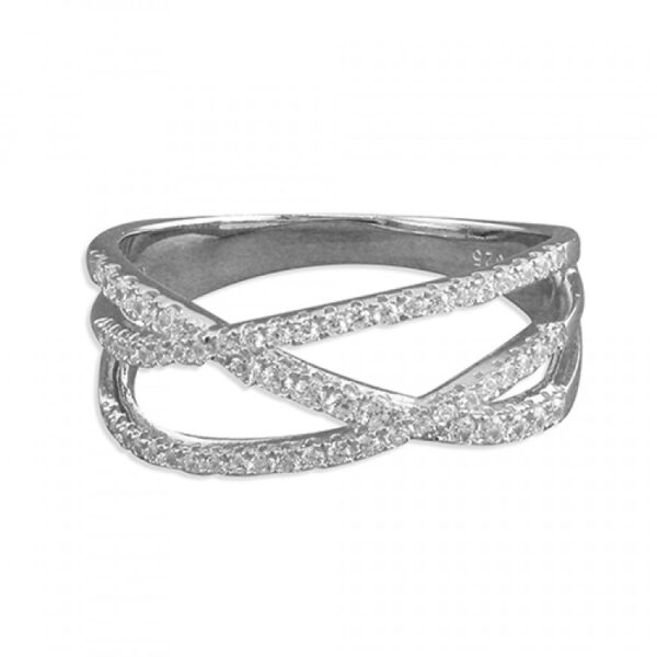Triple-band cubic zirconia crossovers
