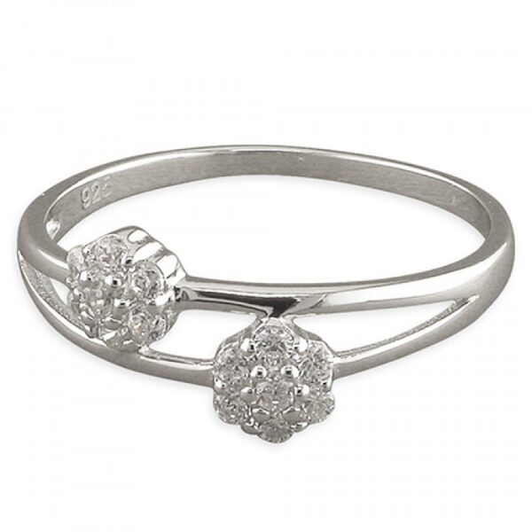 Double cubic zirconia clusters on split band