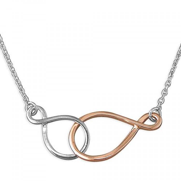 41-46cm/16-18in double linked infinity symbols