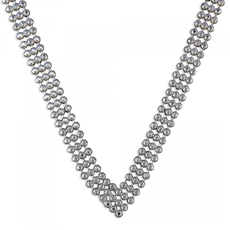 43cm/17in triple-row beads vee