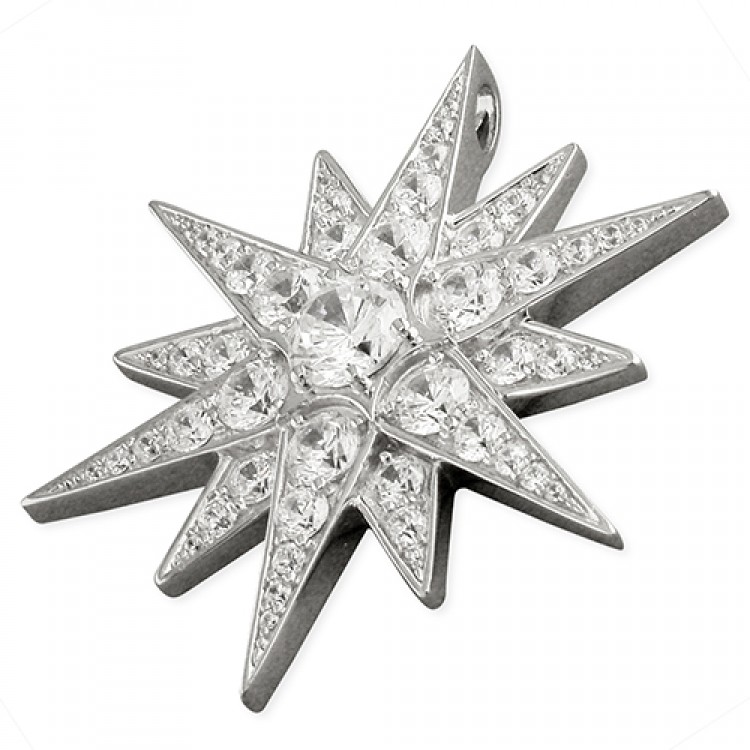Large cubic zirconia Northern Star