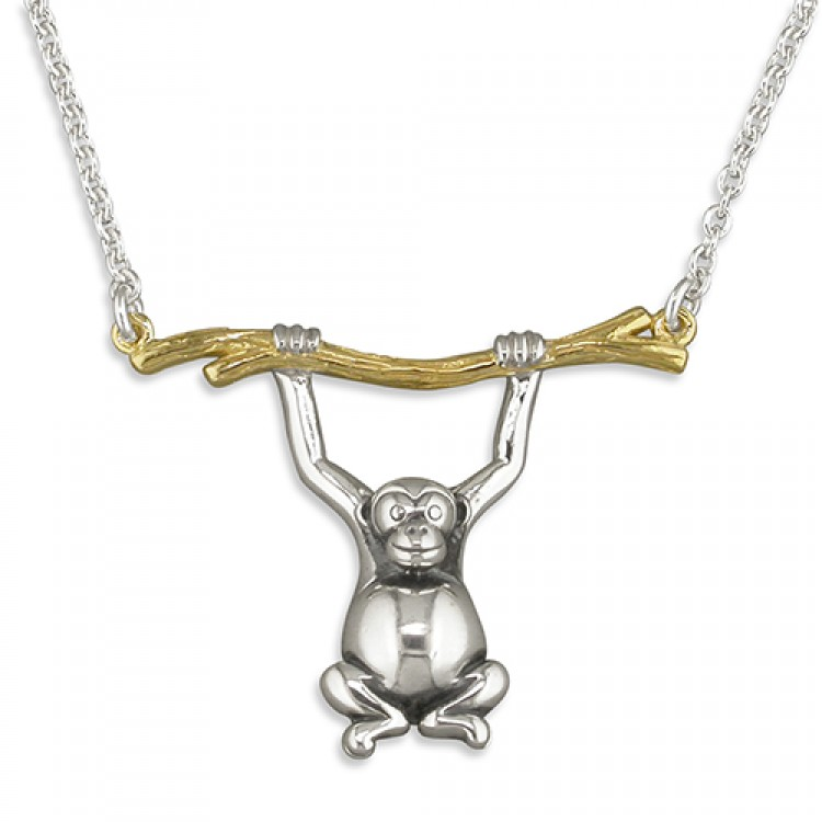 41-46cm/16-18in monkey swinging from gold branch