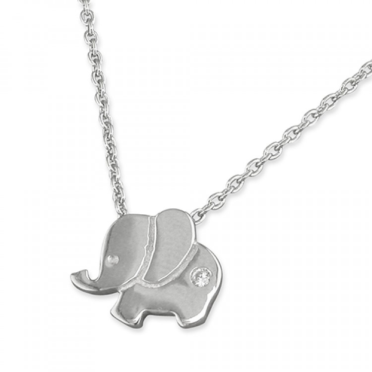 42-44cm small elephant with cubic zirconia
