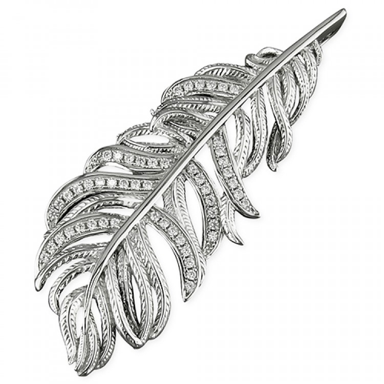 Cubic zirconia textured feather