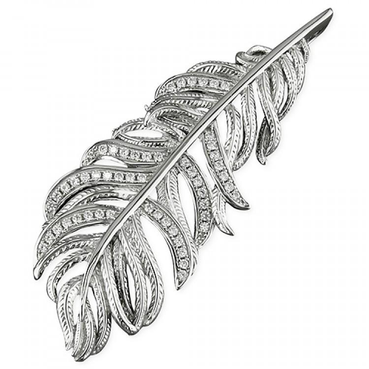 Cubic zirconia textured feather