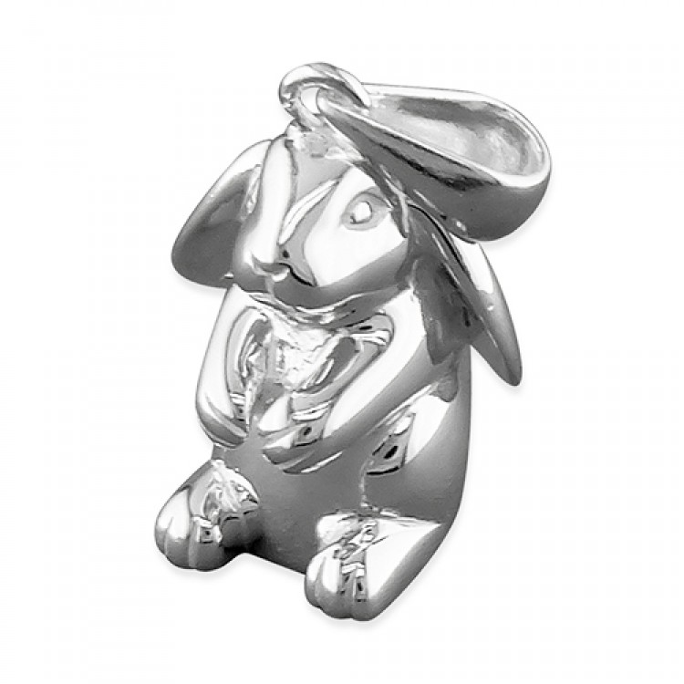 Lop-eared sitting rabbit
