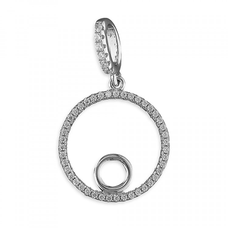 Cubic zirconia circle with plain circle