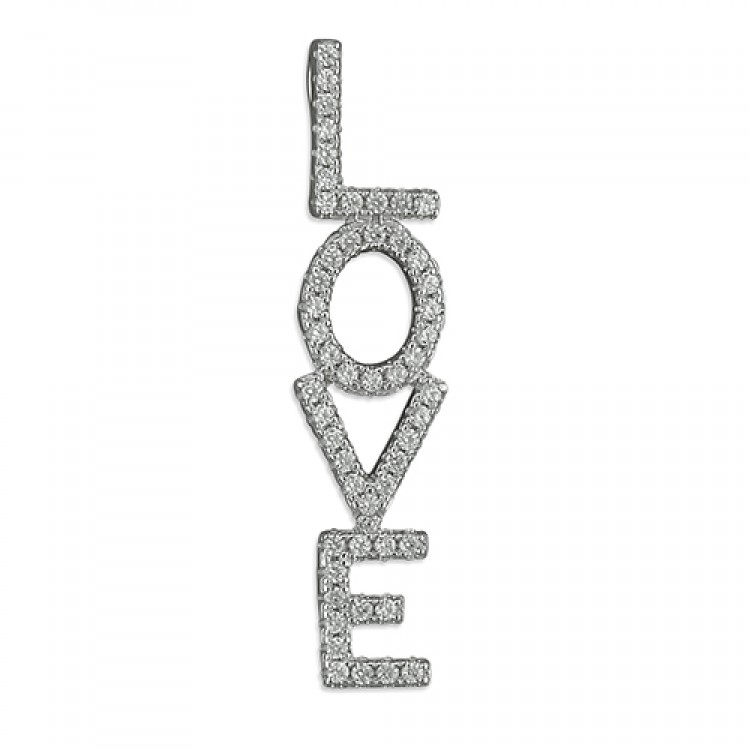 Cubic zirconia vertical 'LOVE'