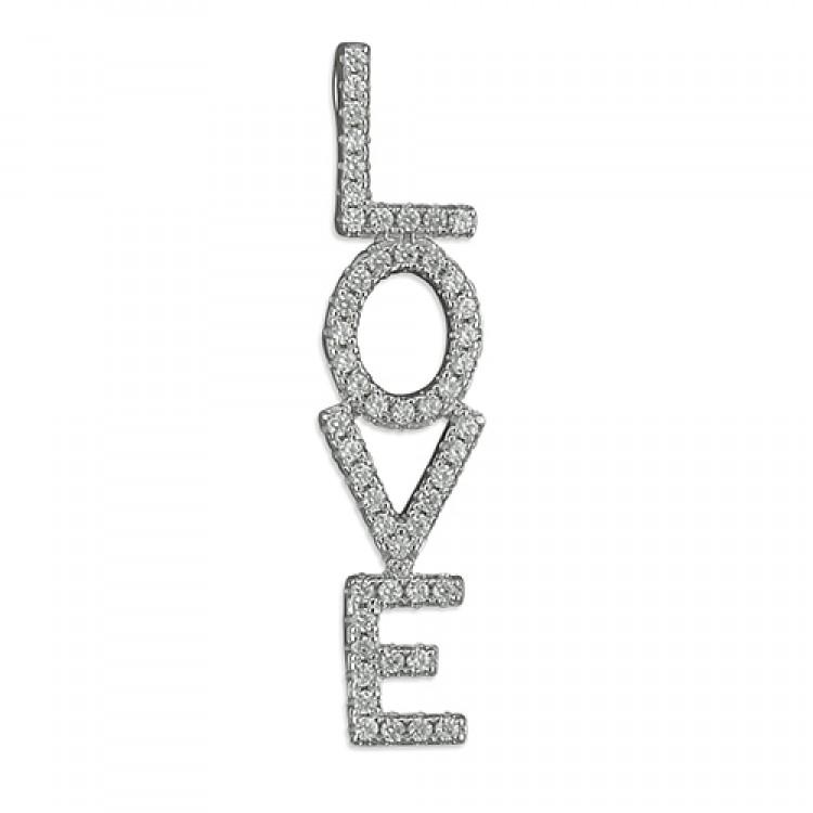 Cubic zirconia vertical 'LOVE'