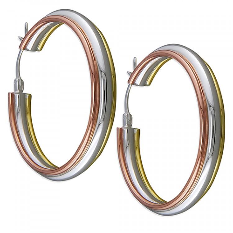 35mm 3-tone ribbed hinged hoop