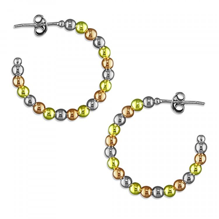 3-tone beads hoop