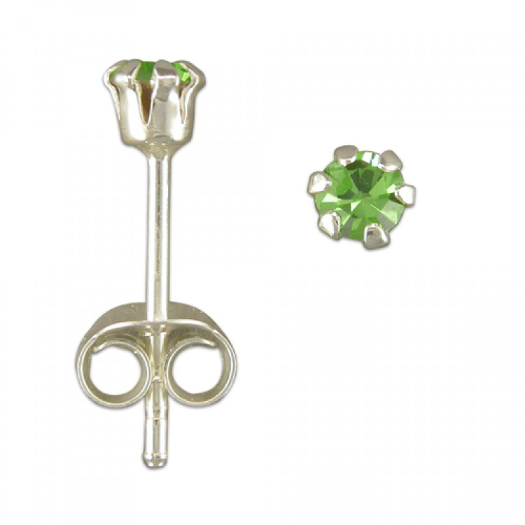 3mm austrian crystal stud assorted colours
