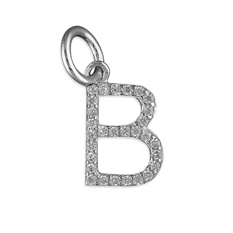 B Thin cubic circonia initial