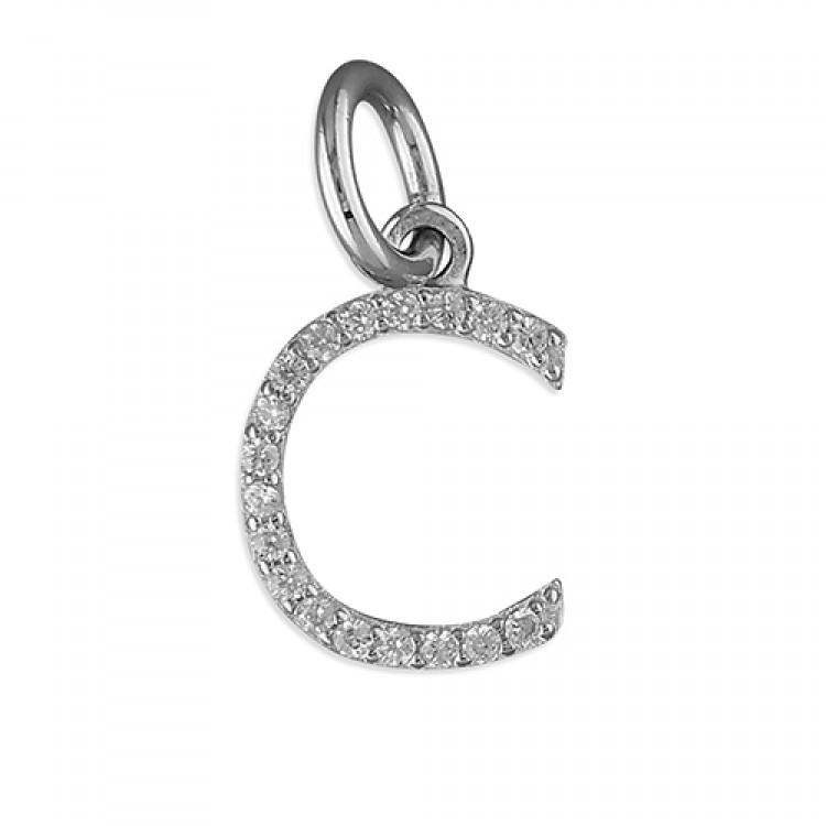 C Thin cubic circonia initial