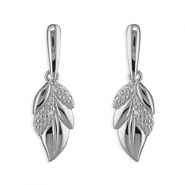 Cubic zirconia and plain leaves drop