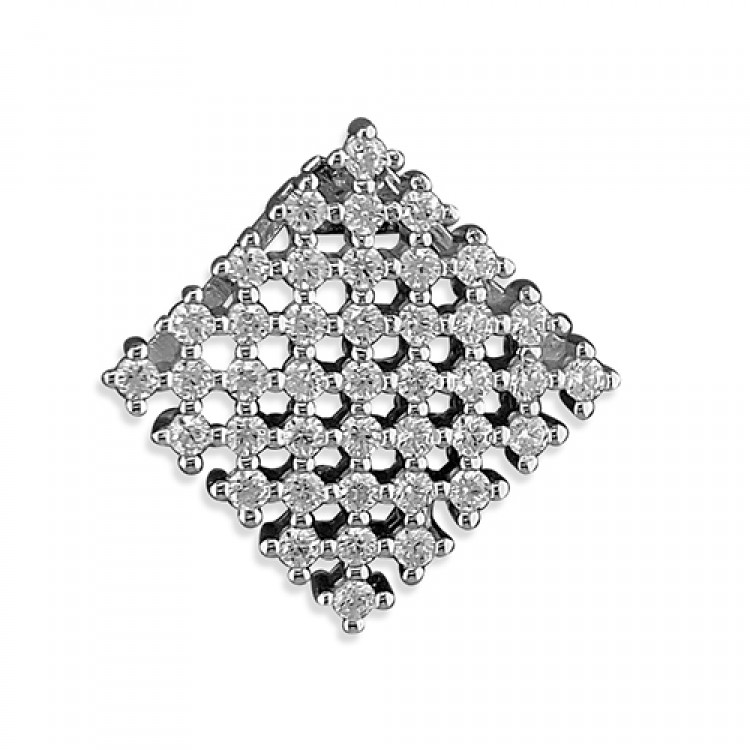 Floating cubic zirconia chequerboard