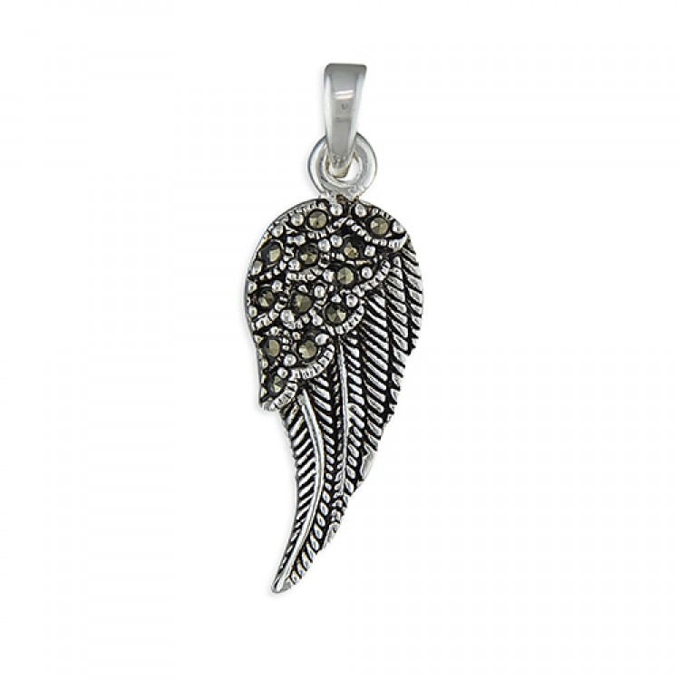 Marcasite angel wing