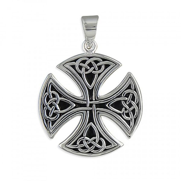 Mens large round Celtic cross