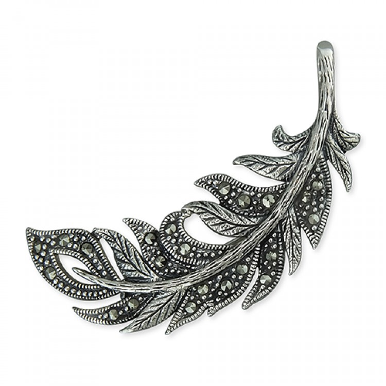Marcasite feather