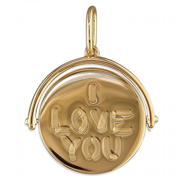 Gold-plated secret I-Love-You spinner
