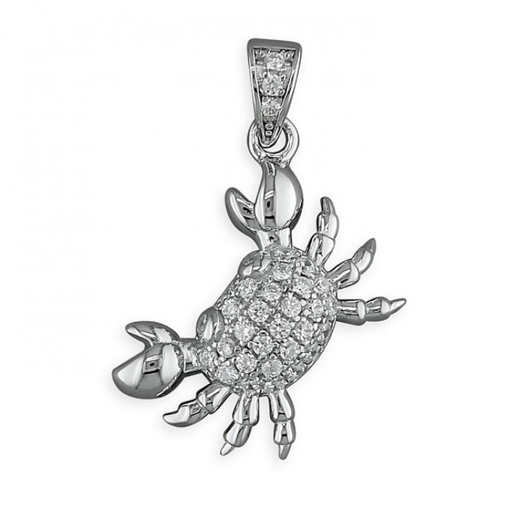 Cubic zirconia crab