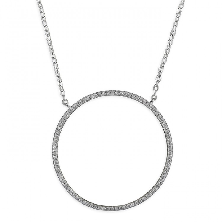 41-46cm large cubic zirconia circle-of-life