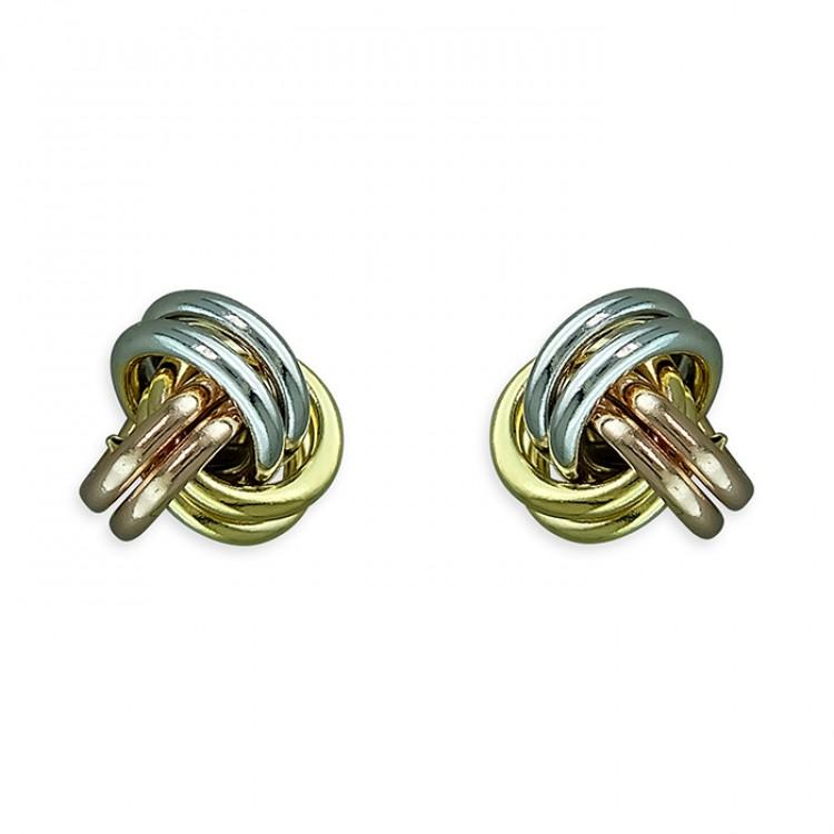 3-tone knot stud