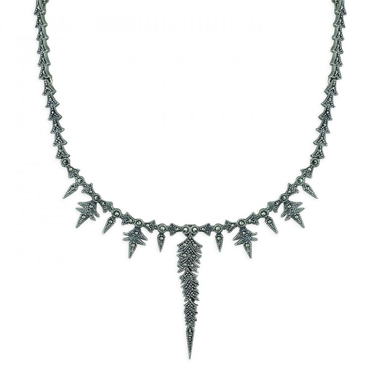 40-48cm marcasite feathers