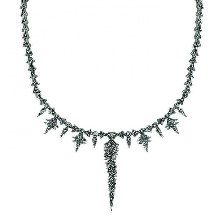40-48cm marcasite feathers