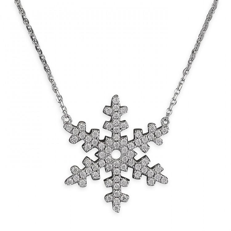 40-45cm cubic zirconia snowflake