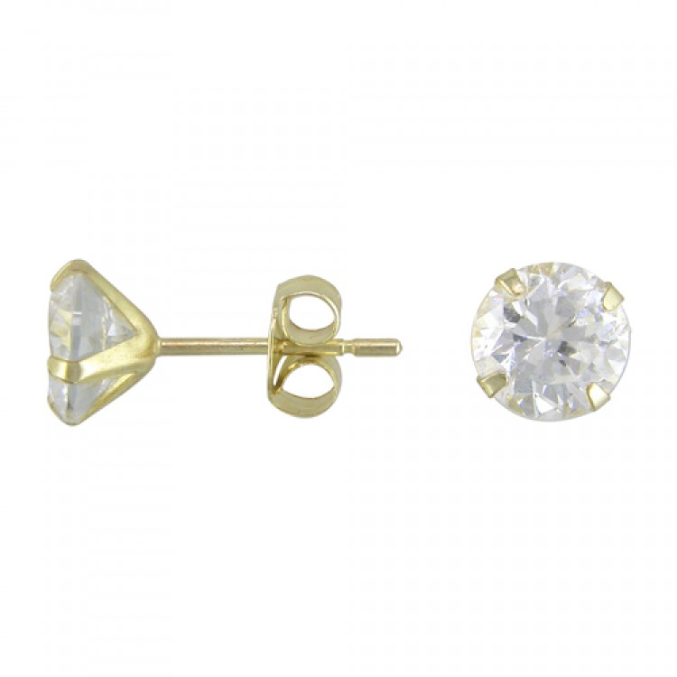 5mm cubic zirconia stud