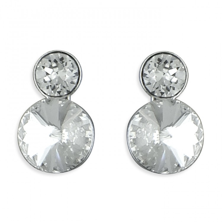 Large and small white crystals stud