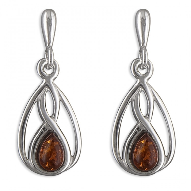Cognac amber fancy teardrop drop