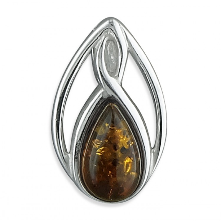 Cognac amber fancy teardrop