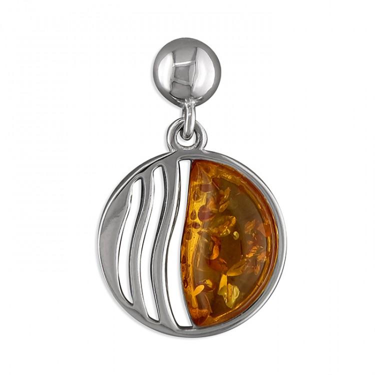 Cognac amber circle and waves