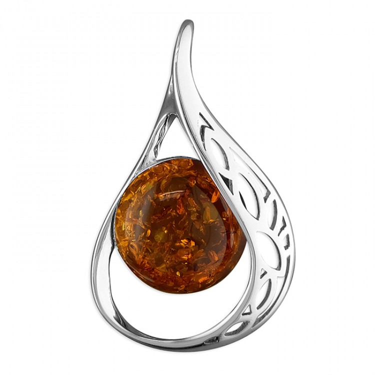 Cognac amber fancy loop