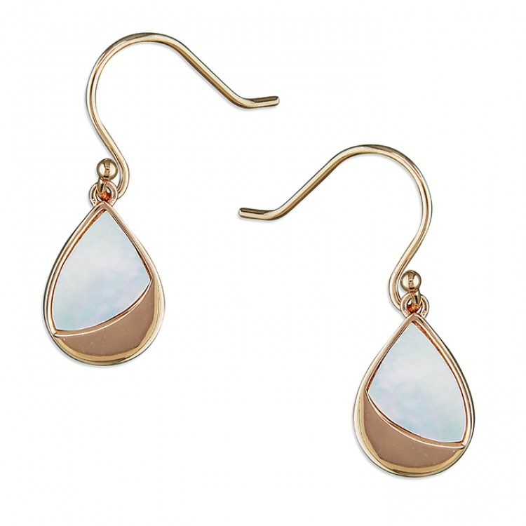 Mother- of-Pearl and rose gold-plated pear drop