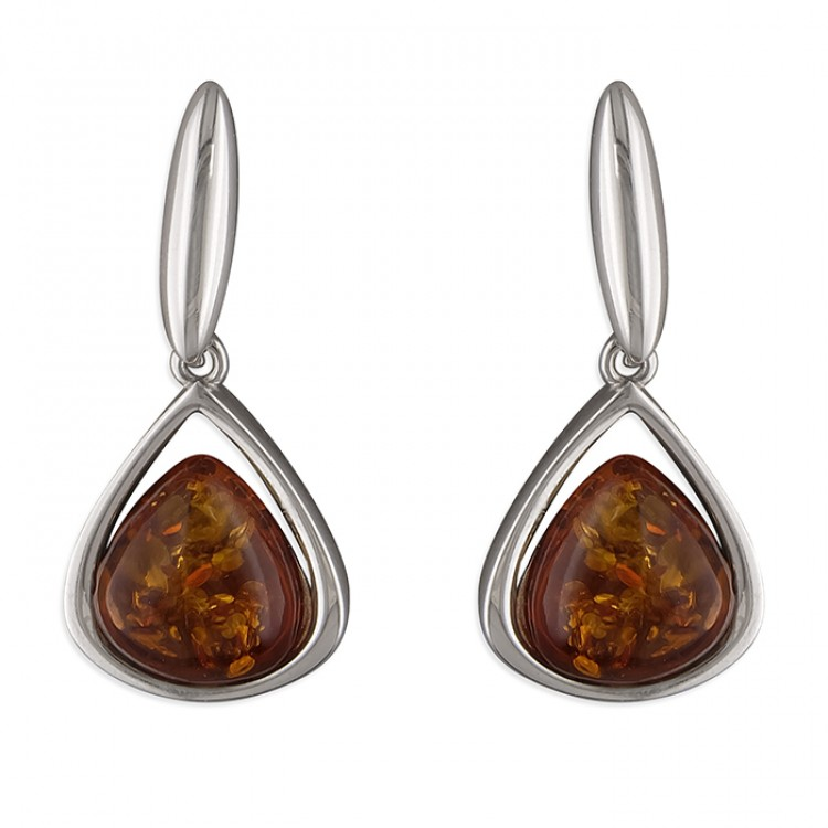 Cognac amber triangle drop