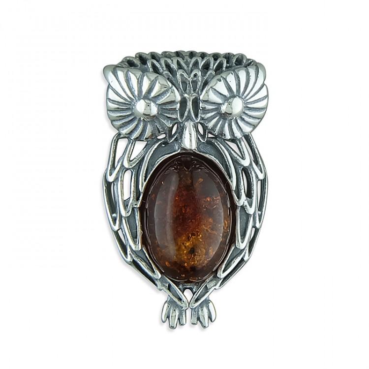 Cognac amber fancy owl