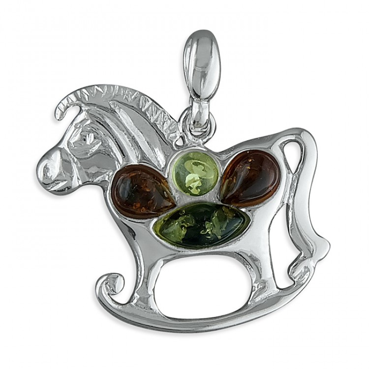 Mixed amber rocking horse