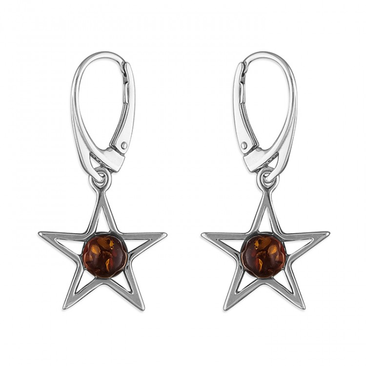 Cognac amber star drop