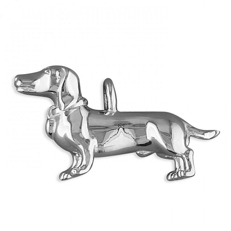 Dachshund dog with diamond-set collar