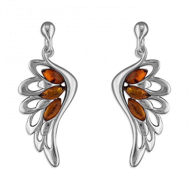 Cognac amber wing drop