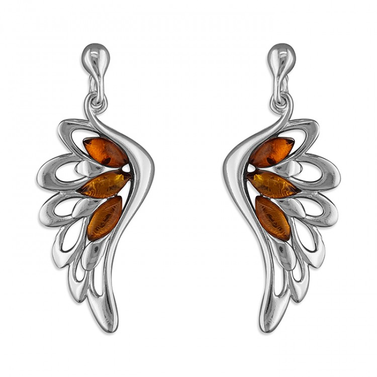 Cognac amber wing drop