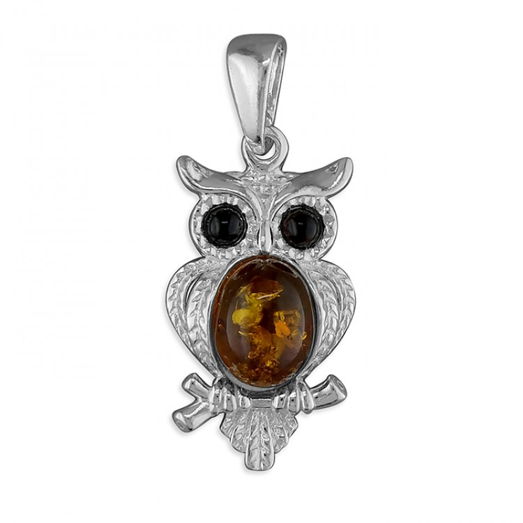 Cognac amber owl