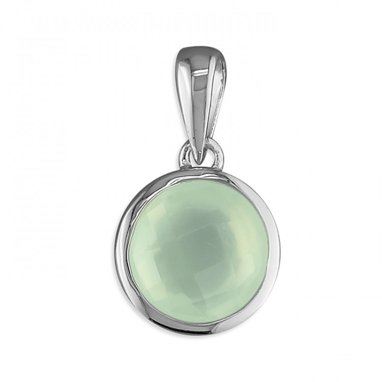 8mm round green chalcedony