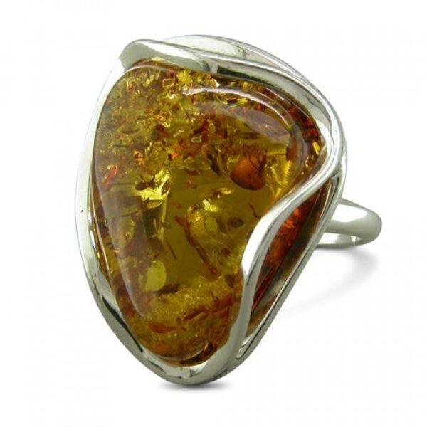 Wavy-sided cognac amber (adjustable)