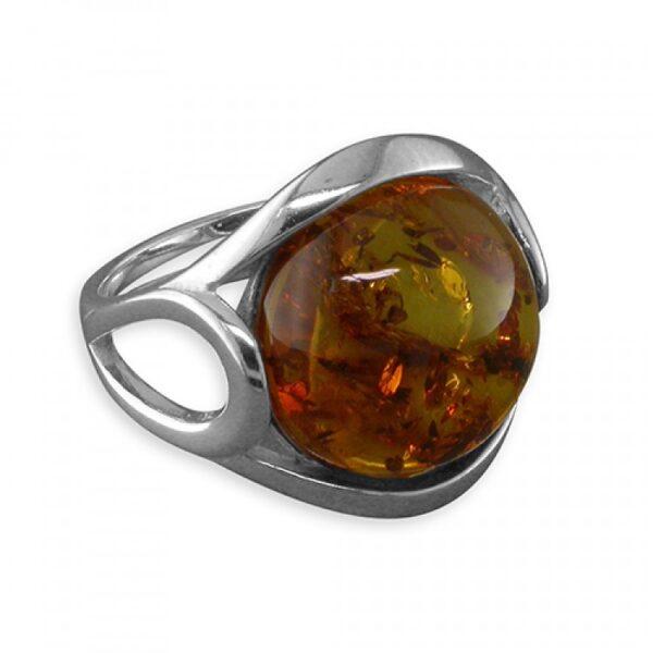 Cognac amber loop and twist
