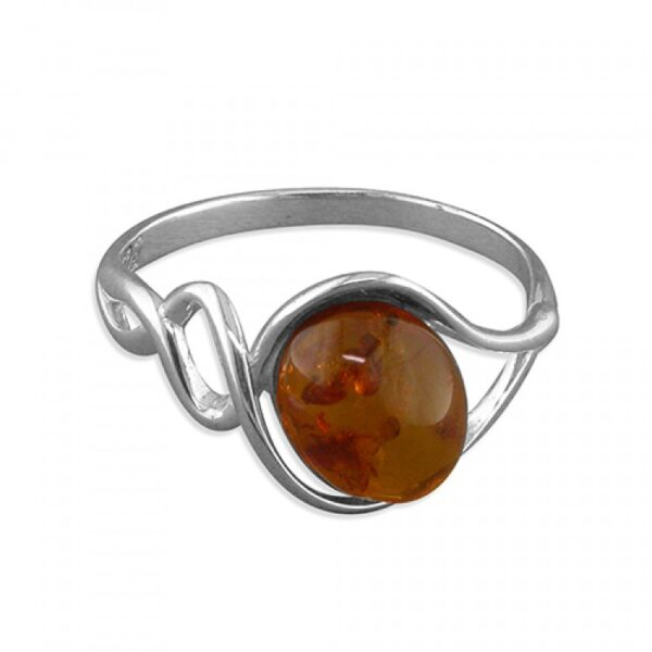 Cognac amber oval in spiral