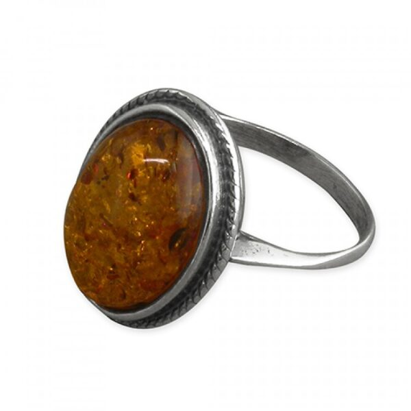 Cognac amber rope-edged oval